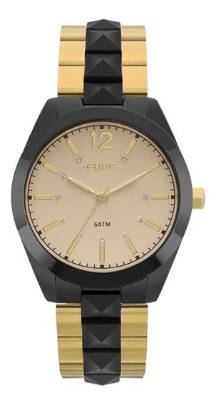 Relógio Euro Ref. Eu2036ymm - - Preto/dourado Eu2036ymm