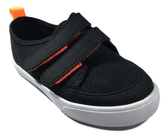 Tênis Meninos Molekinho Infantil Preto Ou Azul Com Laranja. Sistema Fácil De Calçar - Crianças
