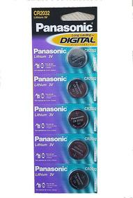 Bateria Lithium 3v Panasonic Cartela Com 5 Uniddades Cr2032