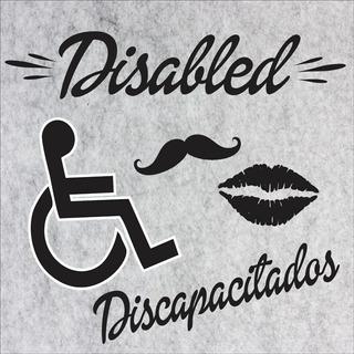Cartel Baños Vintage Disabled Discapacitados Pvc 20x20
