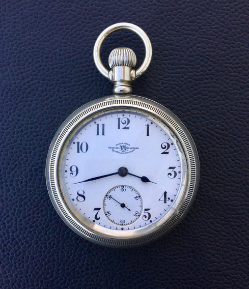 Reloj De Bolsillo Ball Waltham Rr Standard 21 J Antiguo