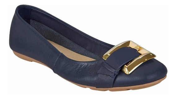 Flat Casual Para Mujer Color Azul Marino
