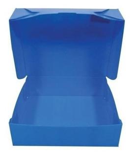 Caja Archivo Plastica Azul Oficio X 10 Unidades