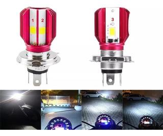 Lampada Farol Em Led H4 8000k Super Branca Moto Ou Carro