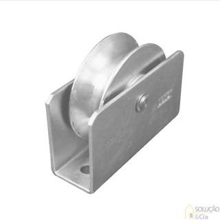 Roda Para Portão De Ferro Reforçada Com Rolamento - 01 Par