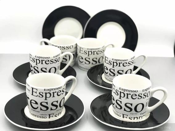 Jogo Xicaras De Porcelana Cafe Expresso 90 Ml