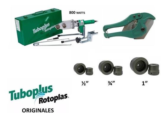 Paquete Termofusor 800w Dado 1/2, 3/4, 1 Y Tijeras Tuboplus