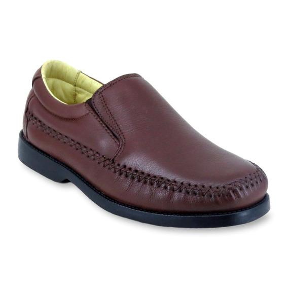 Sapato Casual Masculino Clacle Em Couro Leve E Confortável