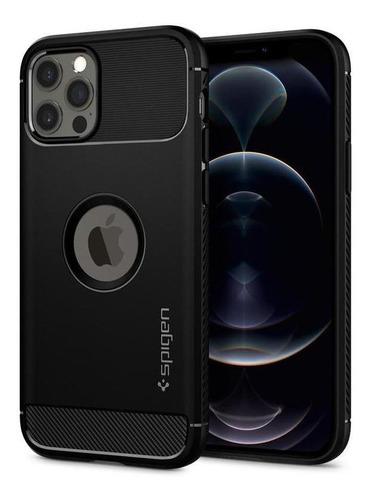 Imagem 1 de 9 de Capa iPhone 12 / Mini / Pro / Pro Max Spigen Rugged Armor