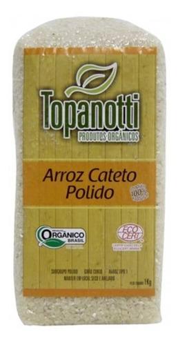Imagem 1 de 1 de Arroz Cateto Polido Orgânico Topanotti 1kg Especial P Sushi