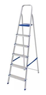 Escalera 6 Escalones Aluminio 1.30 Mts Mor
