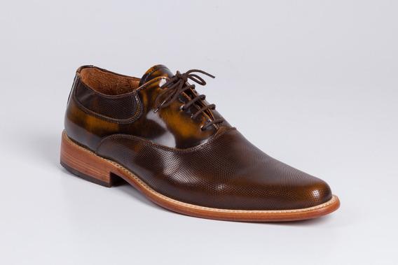 Zapatos De Cuero Para Hombre Marrón - Modelo Hamburgo