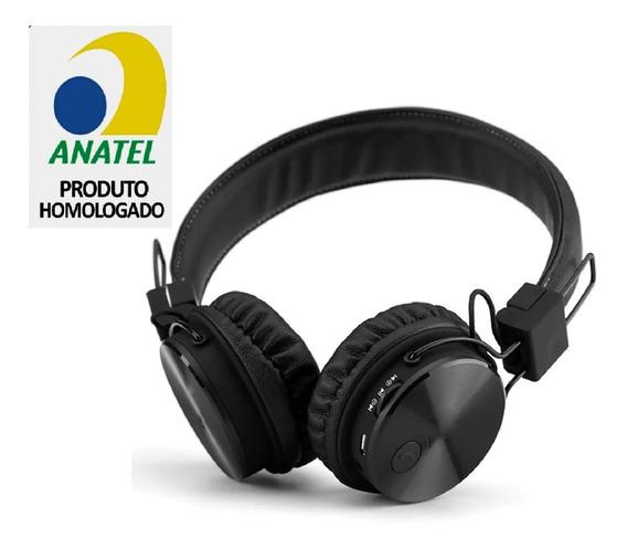 Fone De Ouvido Headset Bluetooth Wireless Rádio Card Microsd