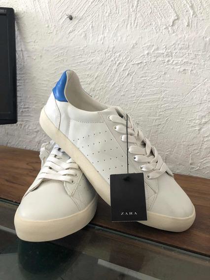 Tênis Branco Zara Original Com Etiqueta Sapatênis