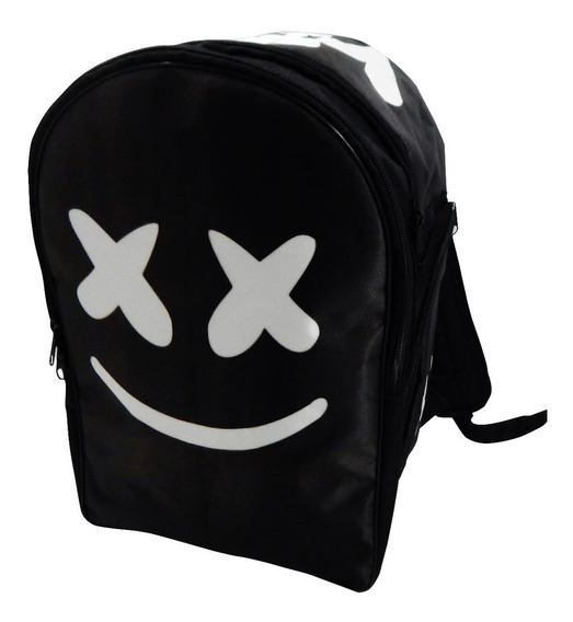 Dj Marshmello Mochila Backpack Negro Cara Face