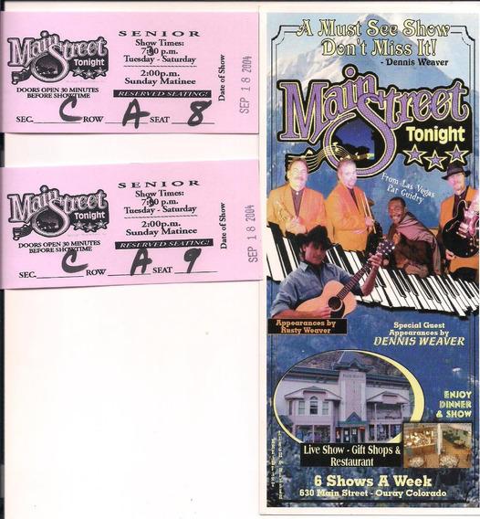 Ingresso Show Country Main Street -2004 - Ouray Colorado Usa