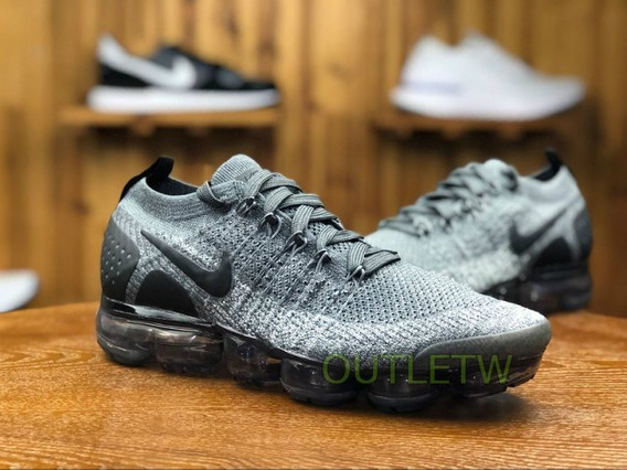 Tenis Nike Vapormax Flyknit 2.0 Air Original Gray Black 42br