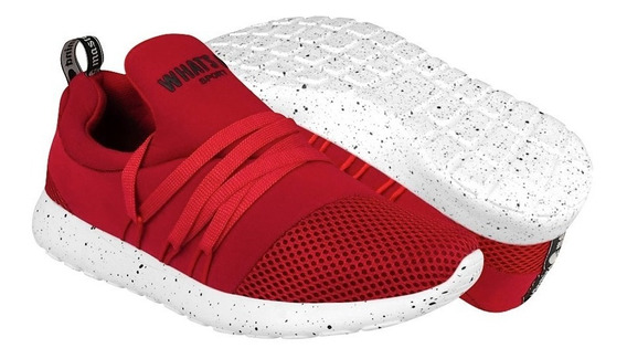 Tenis Sport What´s Up Para Mujer Textil Rojo 152758