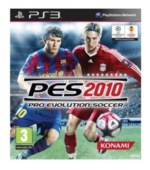 Jogo Pes 2010 Pro Evolution Soccer Ps3 M. Fisica