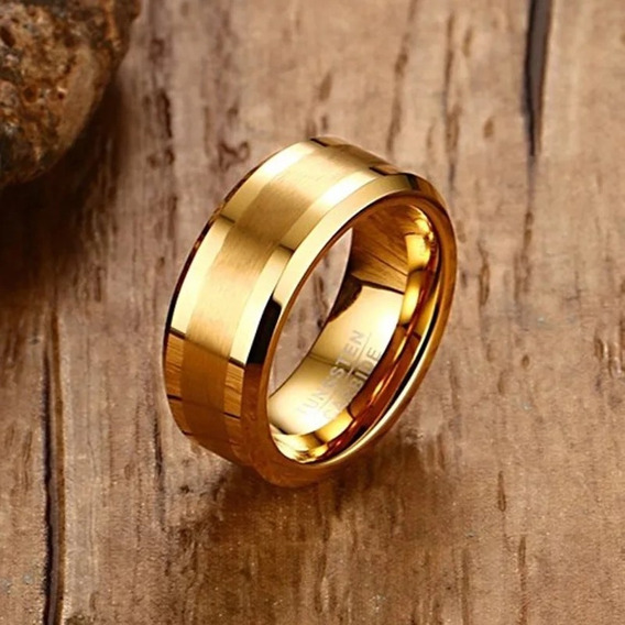 Alianças De Casamento E Noivado 8mm Ouro