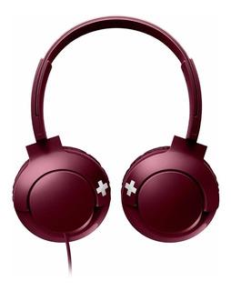 Auriculares Philips BASS+ SHL3075 rojo