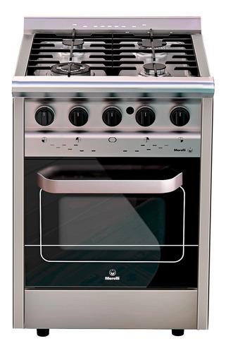 Imagen 1 de 1 de Cocina Morelli Country Forza 600 a gas/eléctrica 4 hornallas  plateada 220V puerta  con visor