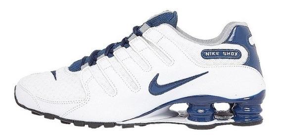 Tênis Nike Shox Nz Se Branco / Azul Original Tam.46