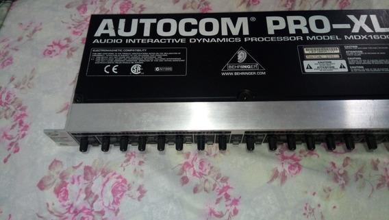 Compressor Behringer Autocom Mdx 1600 Pouco Uso Impecável