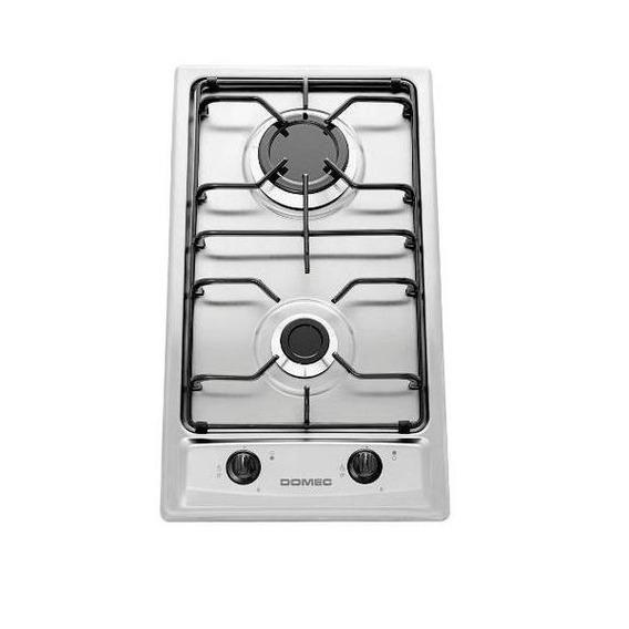Anafe Domec Ax2qv Acero 2 Hornallas Gas Encendido Selectogar