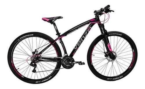 Imagen 1 de 1 de Mountain bike Venzo Shadow Series Loki Evo R29 S 21v frenos de disco mecánico cambios Shimano color negro/rosa