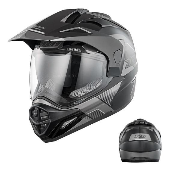 Capacete X11 Crossover X3 Moto Motocross Oferta À Vista