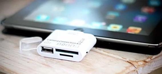 Leitor De Cartao 5 Em 1 C/usb Para iPad Lt-ip 306