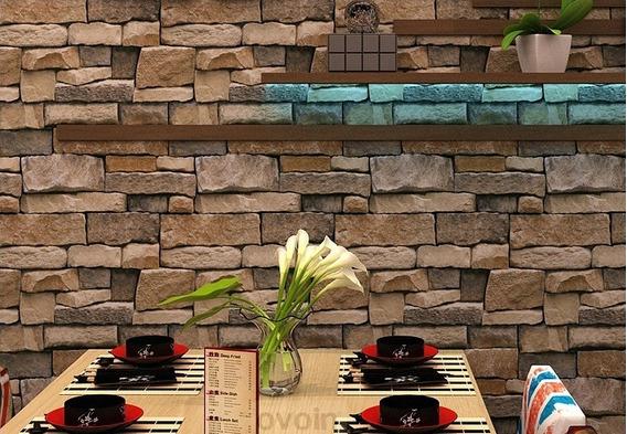 Papel Tapiz Wp57601 Piedra Rojo Ladrillos Moderno 3d