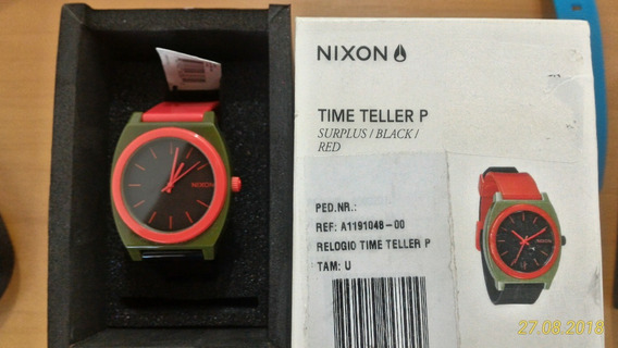 Nixon Time Teller Surplus/black/ Red Novo Na Caixa
