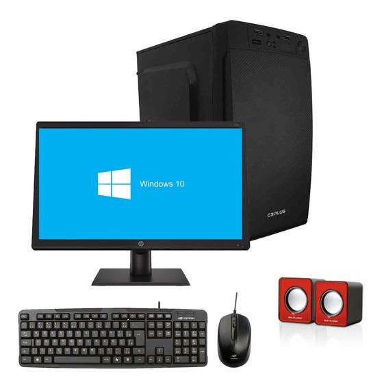 Pc Completo Barato Com Monitor, Teclado E Mouse A6 4gb 500gb