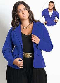 Blazer Feminino Plus Size Quintess Sarja 12x S/ Juros
