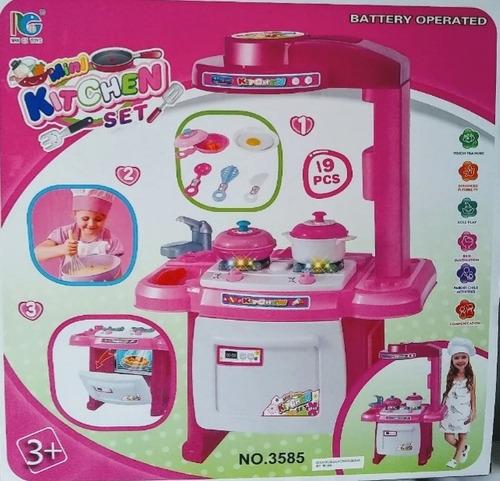 Cocinita Cocina De Juguete Para Niñas Con 19 Accesorios