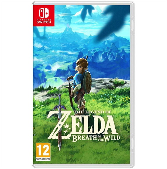 Jogo Zelda Breath Of The Wild Mídia Física Nintendo Switch