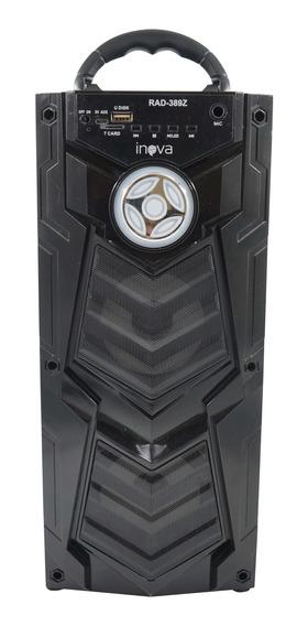 Caixa Som Portátil Wireless Amplificada Bateria Usb Led Sd