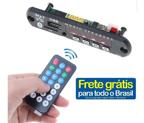 Placa Decodificadora Usb Mp3 Fm Bluetooth Frete Grátis