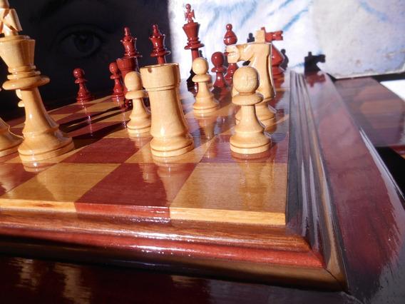 Jogo De Xadrez Tipo Stauton Rei 11,5 Cm Tabuleiro Casas 5 Cm
