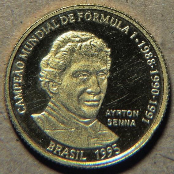 20 Reais Ayton Senna, 1995. Ouro. Frete Grátis.
