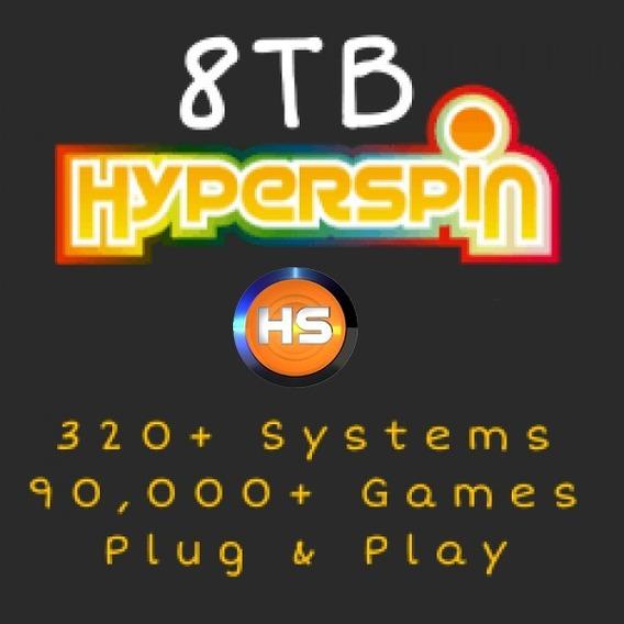 Hyperspin 8tb Plug & Play - 2020 Com + De 320 Sistemas!!!