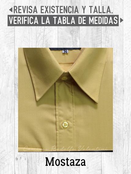 Camisa Caballero Vestir Colores Lisos Rodolfo Valentini