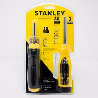 Kit 2 Destornilladores Puntas Intercambiables Stanley 74-013