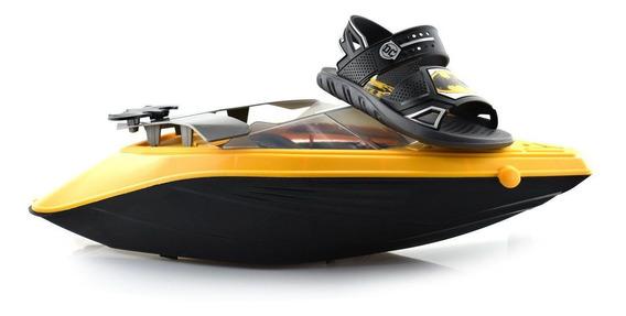 Sandália Infantil Batman Boat 22148 - 23 Ao 33