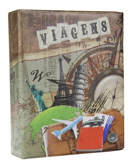 Álbum De Fotos Viagens Fichário 500 Fotos 10x15