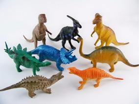 Mini Dinossauros De Borracha 8 Peças