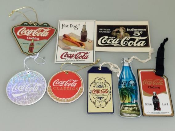 Coca Cola Oficial: 6 Tag Etiquetas 2 Cartão Postal Coleção