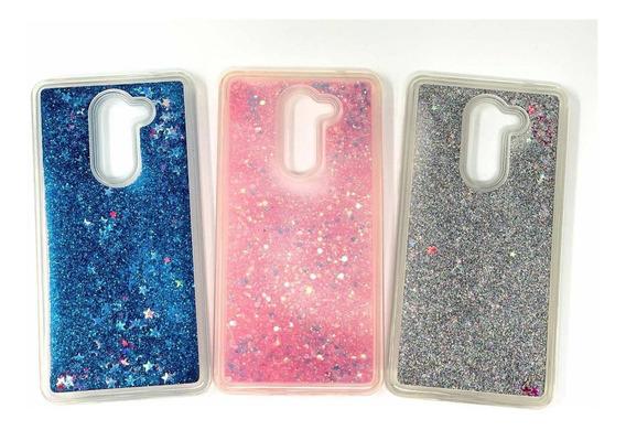Funda Agua Glitter Flexible Ergonómica Brillos Para Huawei